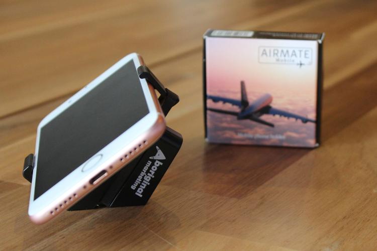 Airmate mobiele telefoonhouder voor het vliegtuig