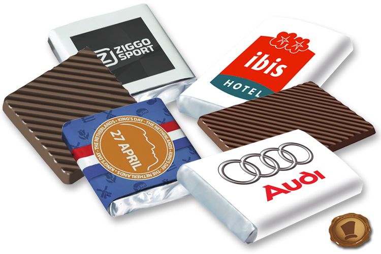 Promotie Chocolade met uw Eigen wikkel