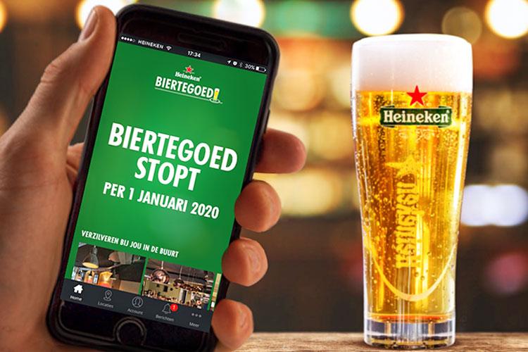 Heineken stopt met de Biertegoed app