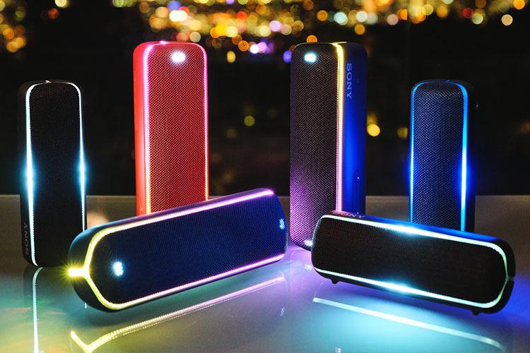 Sony bluetooth-speaker met licht effecten