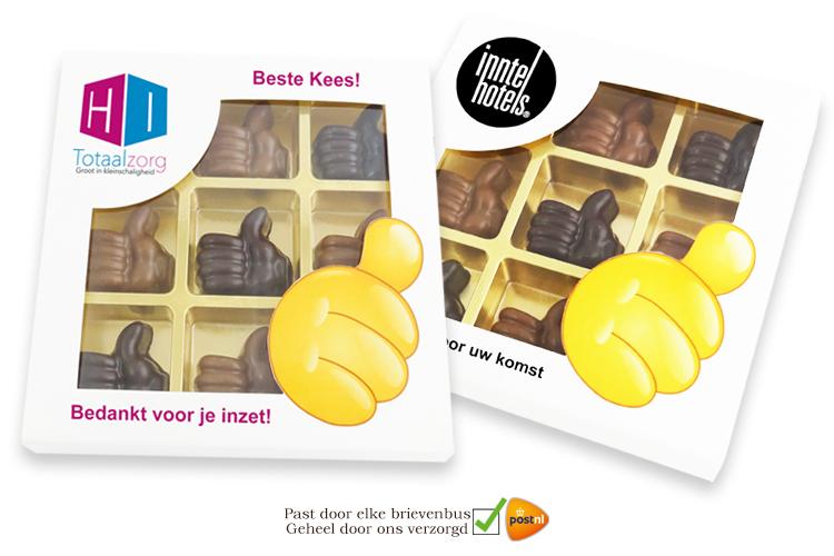 9-vaks Geschenkdoosje met Chocolade Duimpjes!