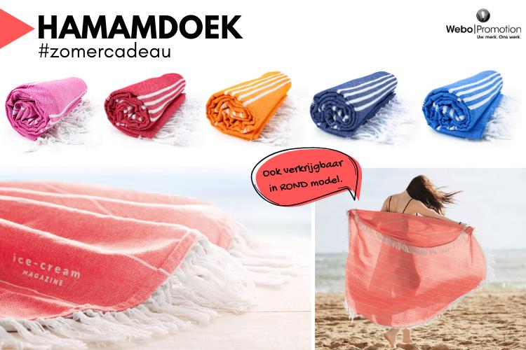 Hamamdoek, een fijn zomercadeau Webo Promotion