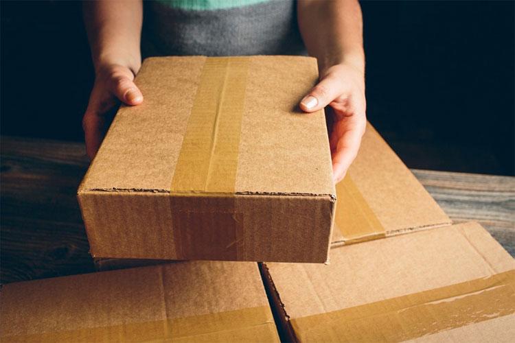 Verzending in goede verpakking