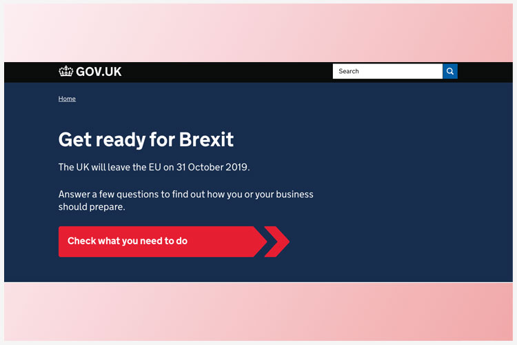 UK product media in no-deal Brexit-campagne