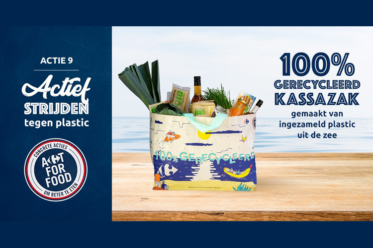 Carrefour komt met tassen uit zee-afval